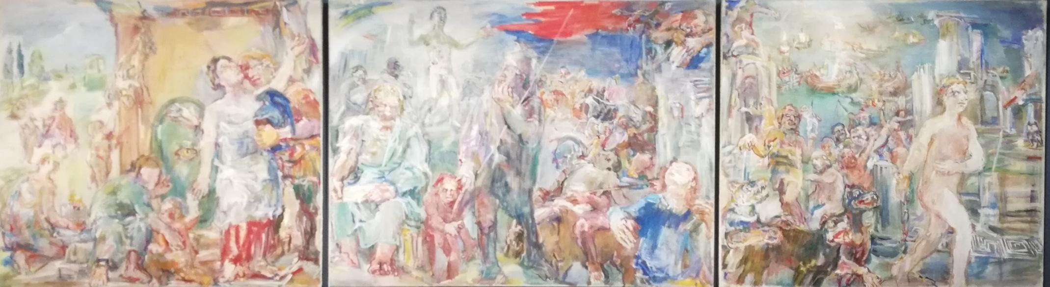 "Oskar Kokoschka, ""Trittico delle Termopili"" (1954)"