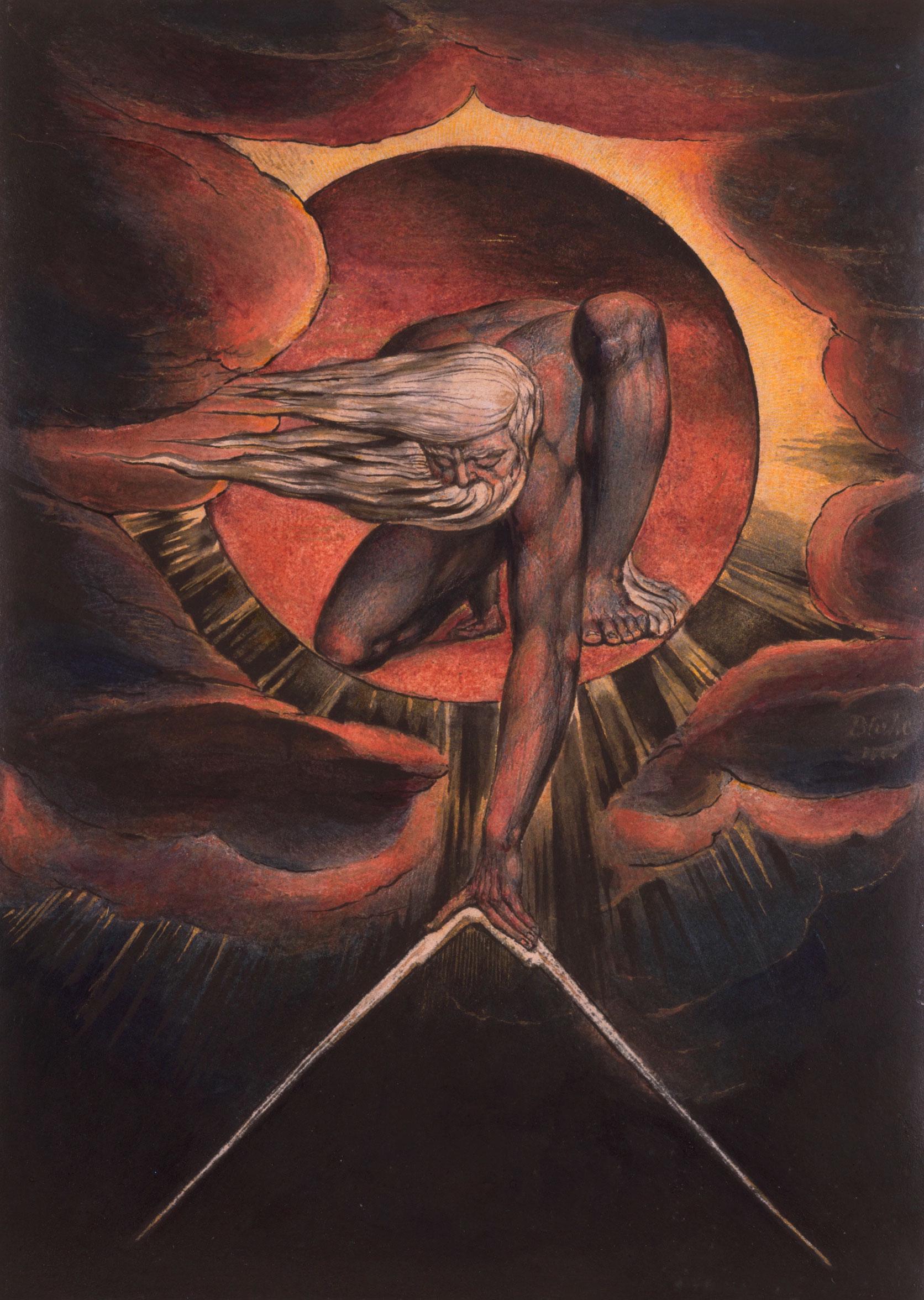William Blake, 'The Ancient of Days', frontespizio di 'Europe' (1827)