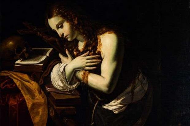 «Maddalena penitente» di Giovan Francesco Guerrieri (particolare, Fano, Pinacoteca San Domenico)