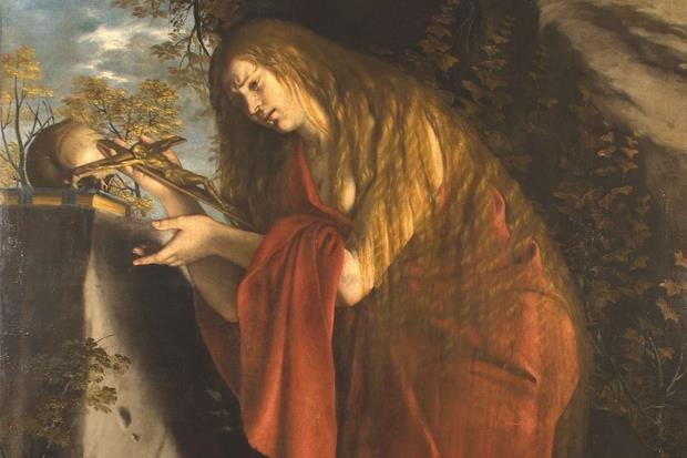 Orazio Gentileschi, «Maddalena penitente» (1612-'15, particolare)