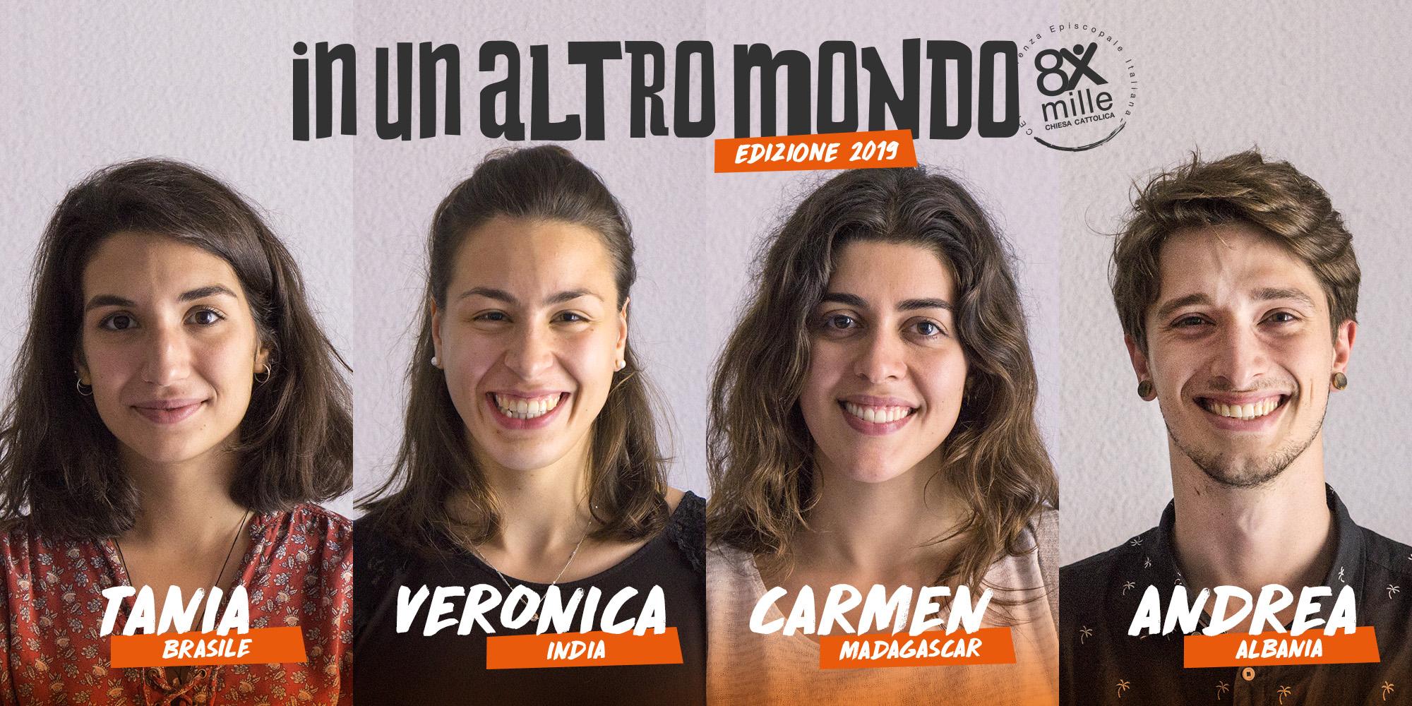 I quattro vincitori del concorso «In un altro mondo»