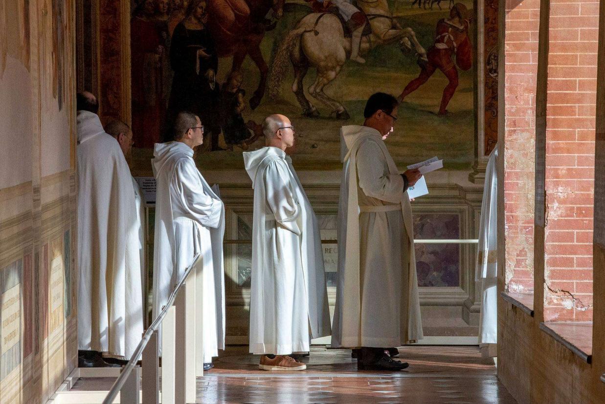 I monaci dell'abbazia di Monte Oliveto