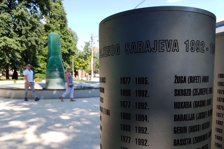 A Sarajevo il memoriale dei bambini caduti durante la guerra in Bosnia ed Erzegovina