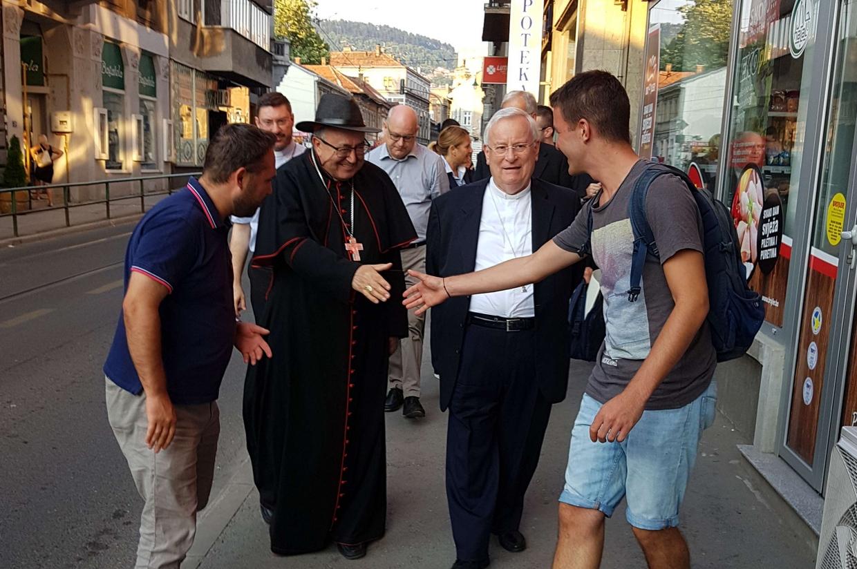 Il cardinale arcivescovo di Sarajevo, Vinko Puljic, e il cardinale Gualtiero Bassetti