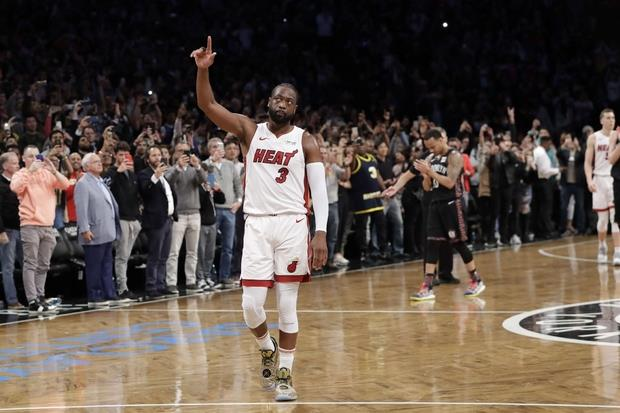 L'ultima partita di Dwyane Wade con i suoi Miami Heat ' AP Photo'Kathy Willens