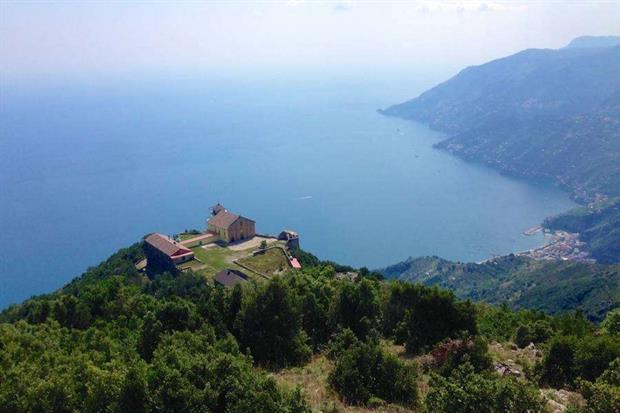 Il santuario dell'Avvocata a Maiori, in provincia di Salerno