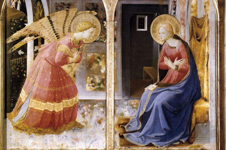'L'annunciazione' di Beato Angelico a San Giovanni Valdarno (Arezzo)