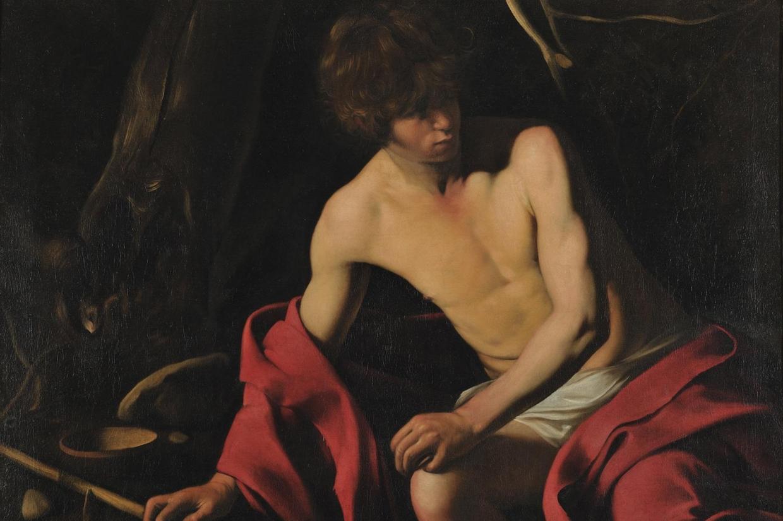 'San Giovanni Battista' di Caravaggio alle Gallerie Nazionali di Arte Antica di Roma (foto Ansa)