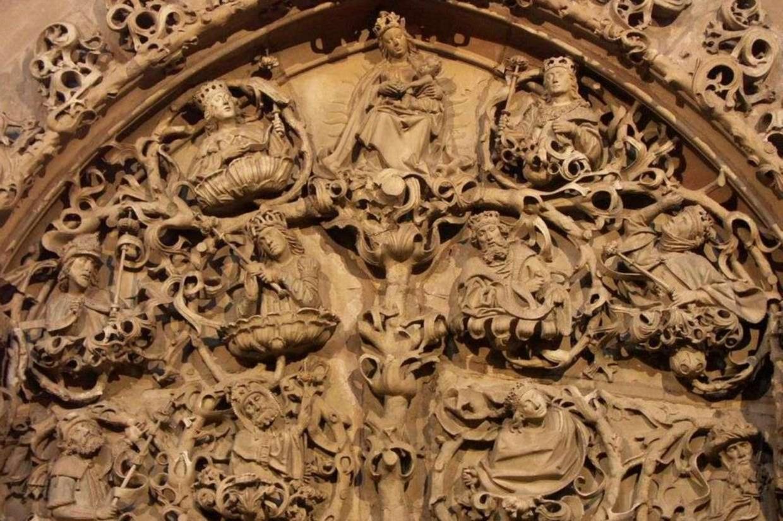 'L'albero di Jesse' nella Cattedrale di Worms in Germania