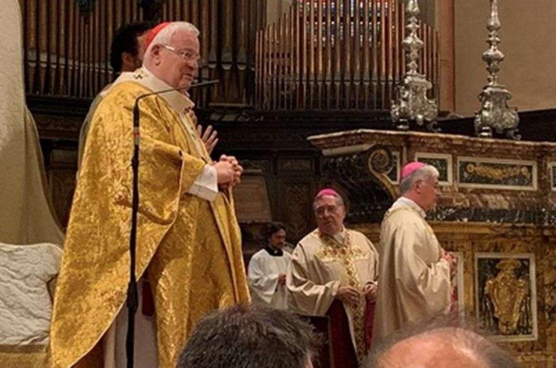 Il cardinale Bassetti durante la Messa a Perugia per i 25 anni di ordinazione episcopale