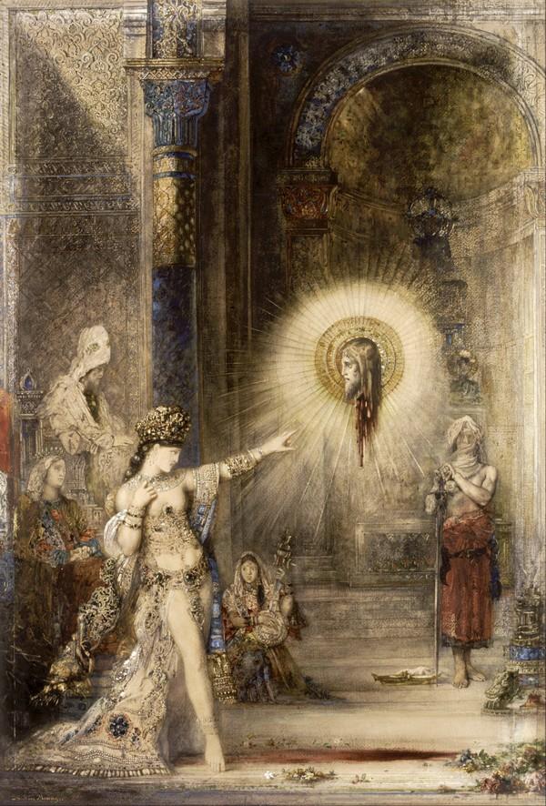 Gustave Moreau (1826-1898) L'Apparizione Acquerello cm 106 x 72,2. Museo d'Orsay, Parigi.