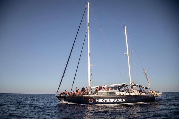 Il veliero Alex & co. di Mediterranea, lungo 18 metri (foto Valerio Nicolosi)