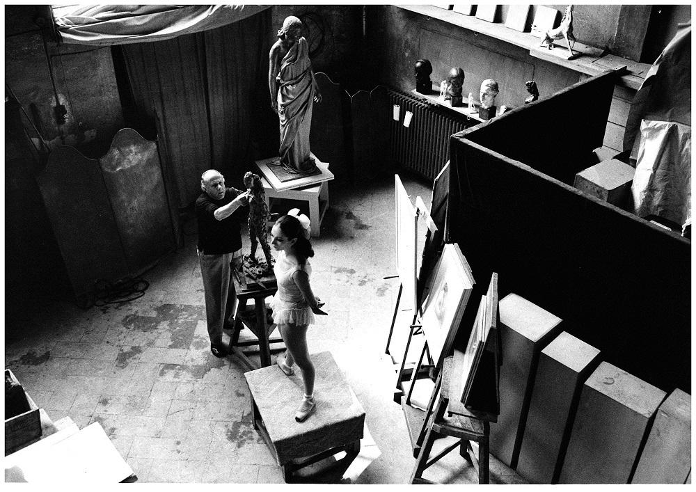 Francesco Messina e Aida Accolla, Accademia di Brera, 1967 (foto di Giorgio Lotti)