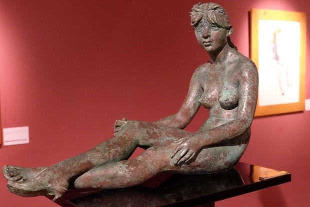 Francesco Messina, 'Claudine', bronzo , 1980, Studio Museo Francesco Messina di Milano nella mostra al Museo 'Messina-Incorpora' di Linguaglossa (foto G. Matarazzo)