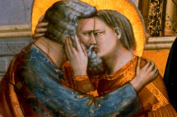 Giotto: L'incontro tra Gioacchino e Anna alla Porta D'oro