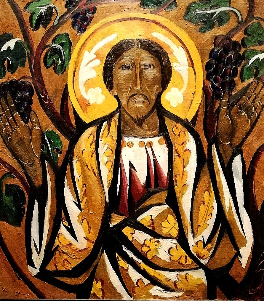 Natalia Goncharova, «Trittico del Cristo Salvatore» (particolare, 1910-11)