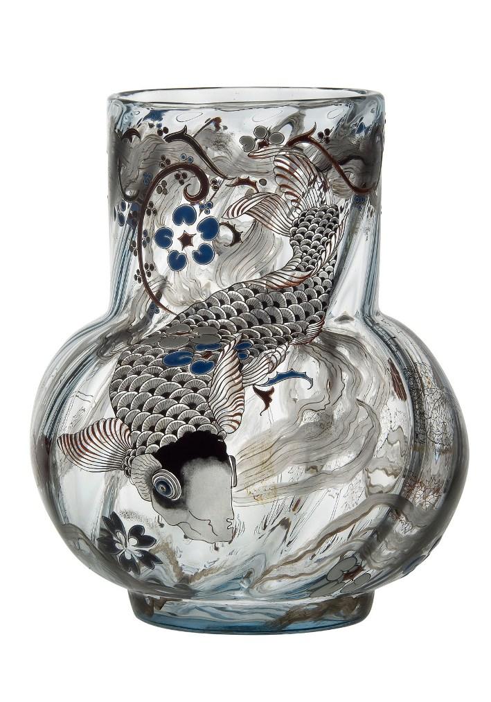 """Emil Gallé, vaso in vetro """"La Carpe"""" (1878)"""