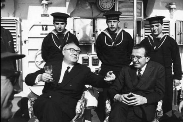Con il presidente della Repubblica Giuseppe Saragat