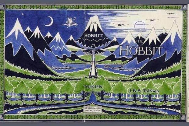 L'immagine originale usata per la sovraccoperta della prima edizione dello 'Hobbit' (1937)