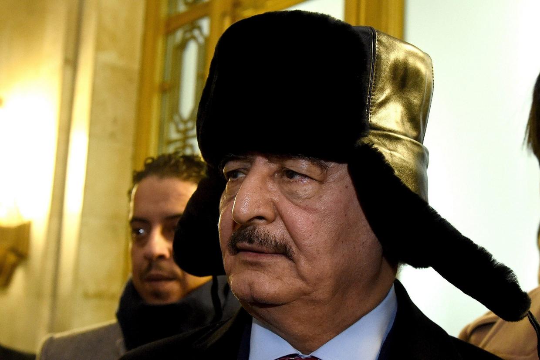 Il generale Haftar a Mosca (Ansa)