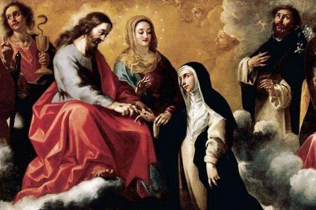 'Il matrimonio mistico di santa Caterina' di Clemente de Torres