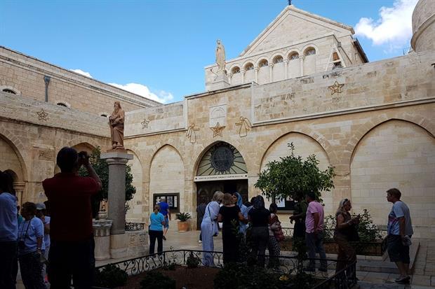 La chiesa di Santa Caterina a Betlemme (foto Gambassi)