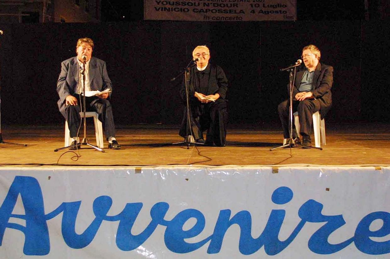De Fabiani alla Festa di Avvenire a Lerici nel 2001