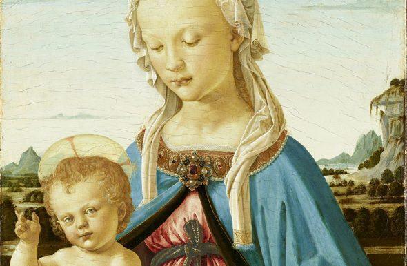 Verrocchio, «Madonna col Bambino» (1470, particolare)
