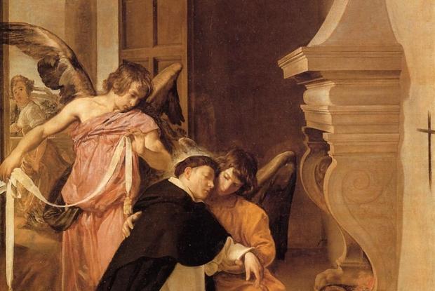 Diego Velazquez, San Tommaso d'Aquino confortato dagli angeli