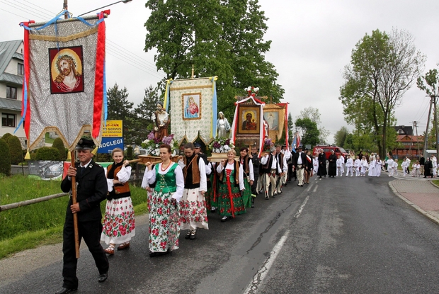 Una processione eucaristica in Polonia