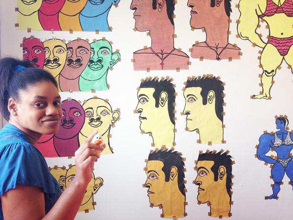 Immagini di uomini disegnate e ritagliate da Misleidys Castillo Pedroso
