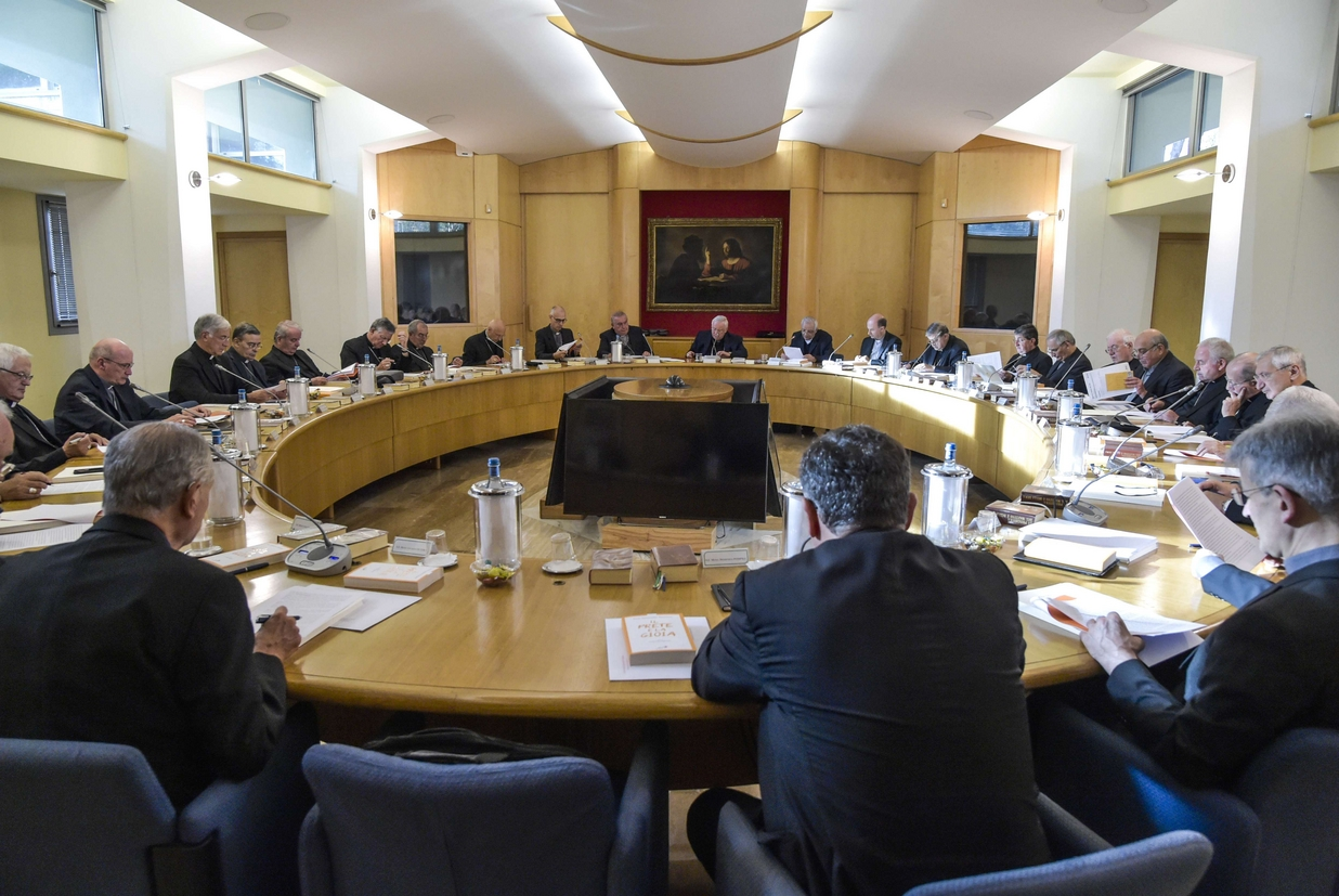 L'ultima sessione del Consiglio permanente della Cei (foto Siciliani)