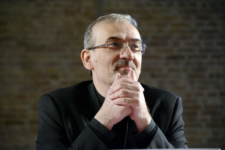 L'arcivescovo Pierbattista Pizzaballa, amministratore apostolico del patriarcato latino di Gerusalemme (foto Boato)