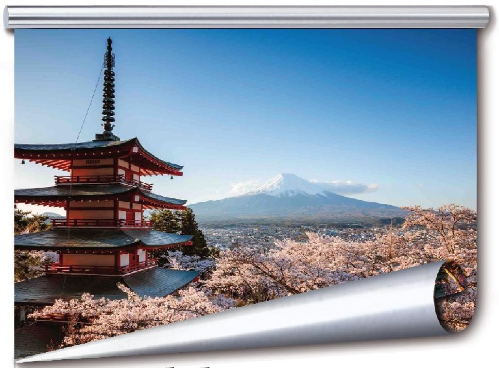La tv arrotorabile allo studio dell'Nhk, l'emittente di Stato giapponese