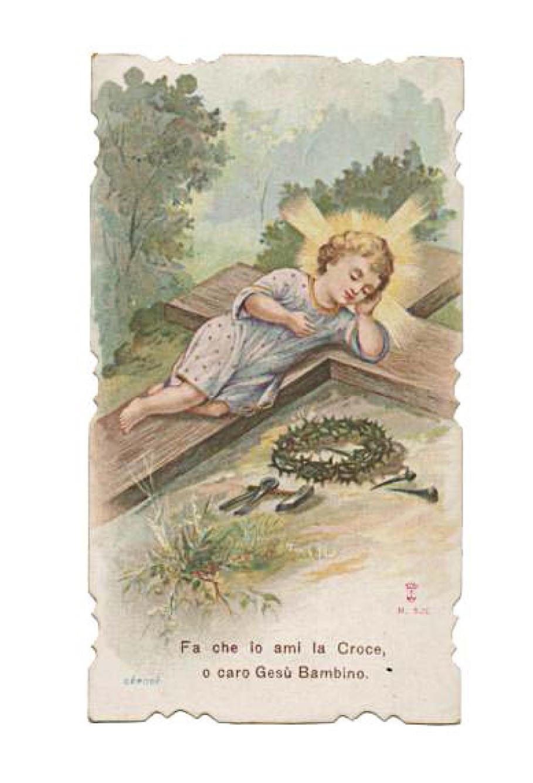Un santino stampato dai carmelitani scalzi di Milano alla fine dell'Ottocento
