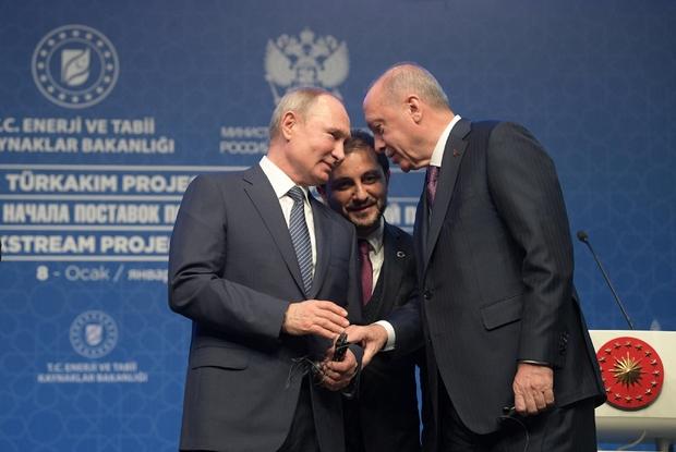 Vladimier Putin e Recep Erdogan a Istanbul l'8 gennaio 2020