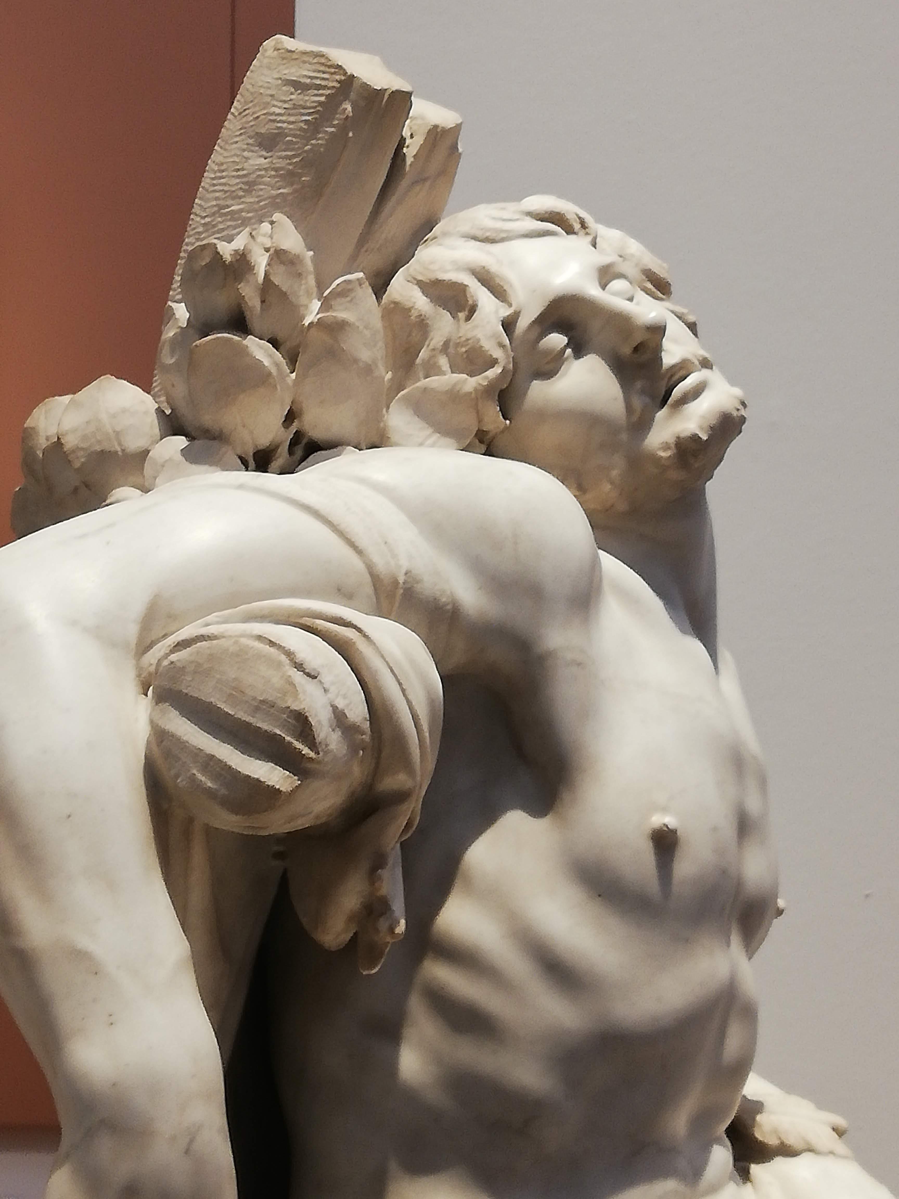 Gian Lorenzo Bernini, «San Sebastiano» (Madrid, Museo Thyssen-Bornemisza, particolare)