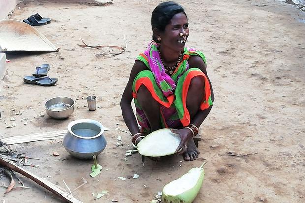 Donna di etnia Bhatra. L'altopiano di Koraput ospita alcuni tra i gruppi tribali e aborigeni meno esposti alle influenze esterne