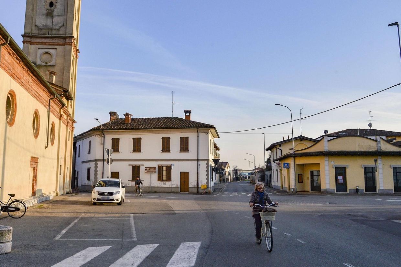 Il centro storico di Castiglione d'Adda, periferia della diocesi di Lodi