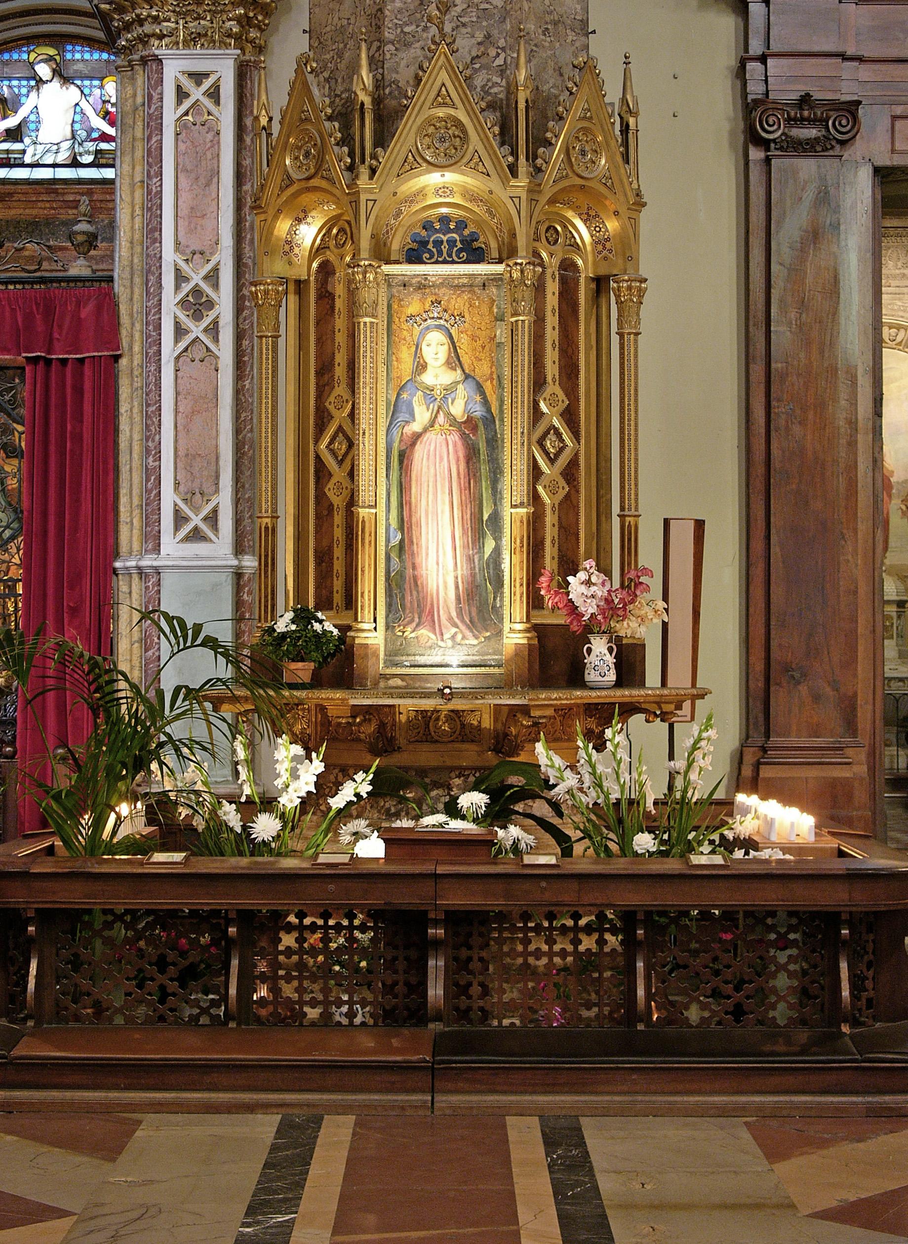 L'immagine della Madonna delle Grazie nella Cattedrale di Perugia