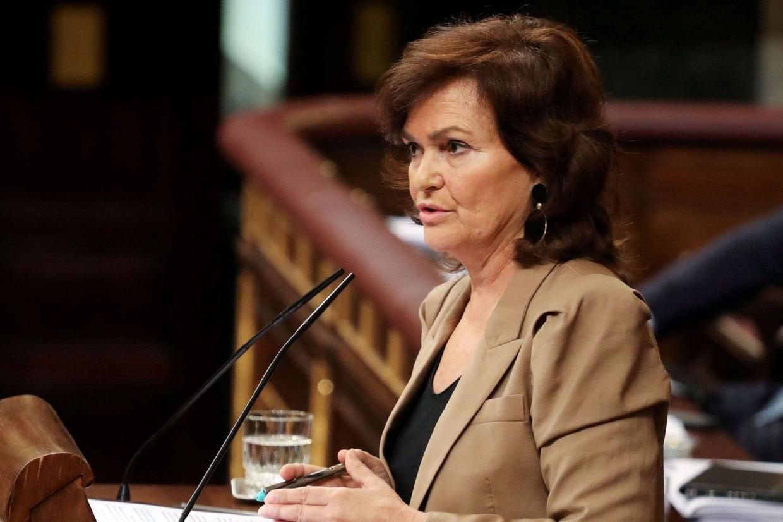 La vicepremier spagnola Carmen Calvo