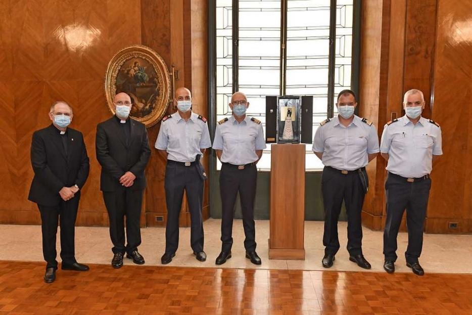Un momento della cerimonia a Palazzo dell'Aeronautica a Roma