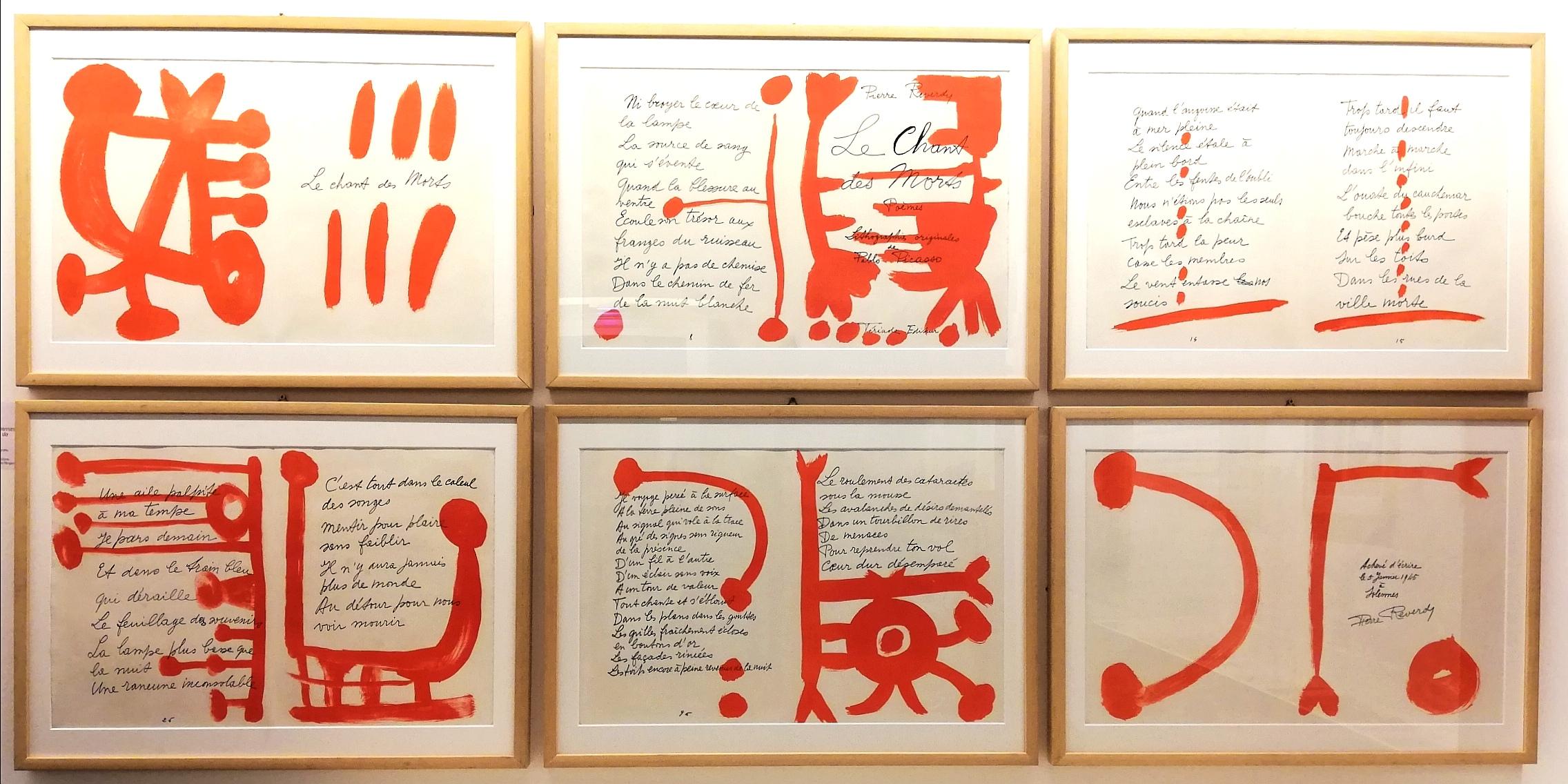 """Pablo Picasso, Pierre Reverdy, """"Le Chant des Morts. Poemes"""" (1948, edito da Tériade)"""