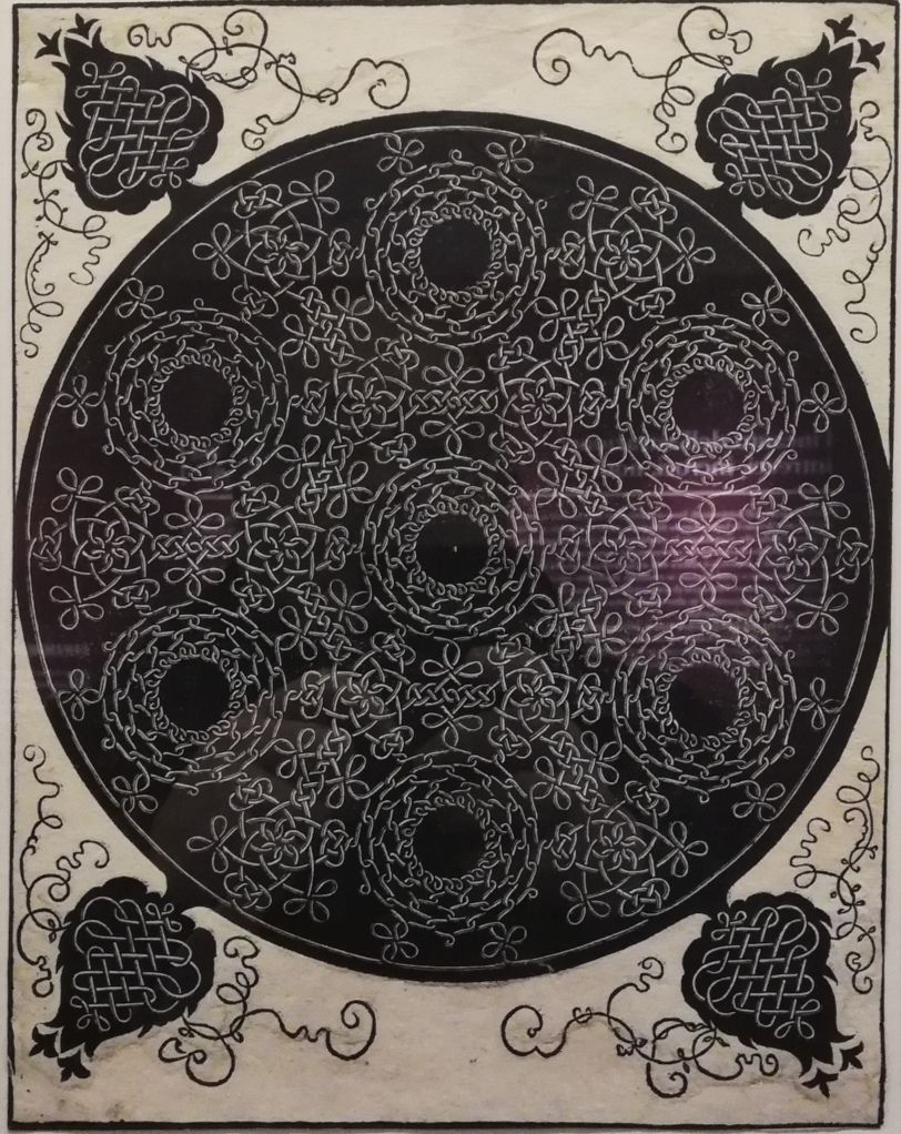 """Albrect Dürer, """"Nodo con sette intrecci circolari"""" (incisione)"""