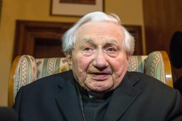 Georg Ratzinger in una foto d'archivio
