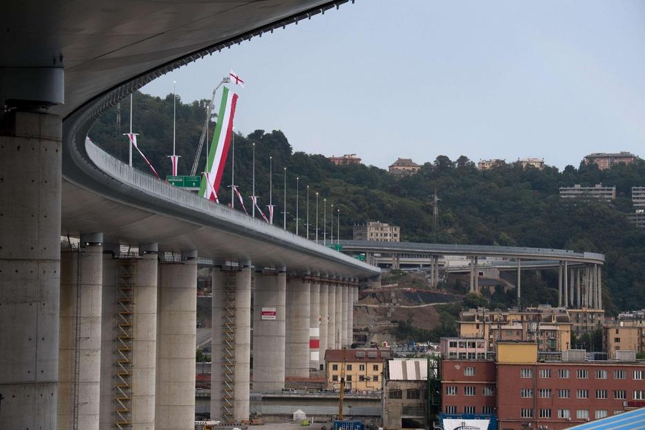 Il nuovo ponte autostradale San Giorgio a Genova