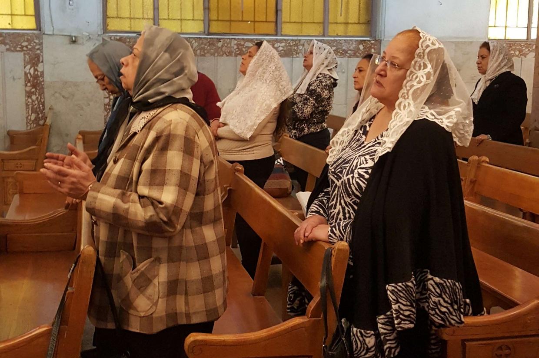I fedeli cristiani durante una celebrazione