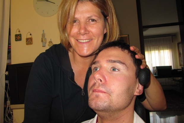 Alessandro Pivetta con la madre