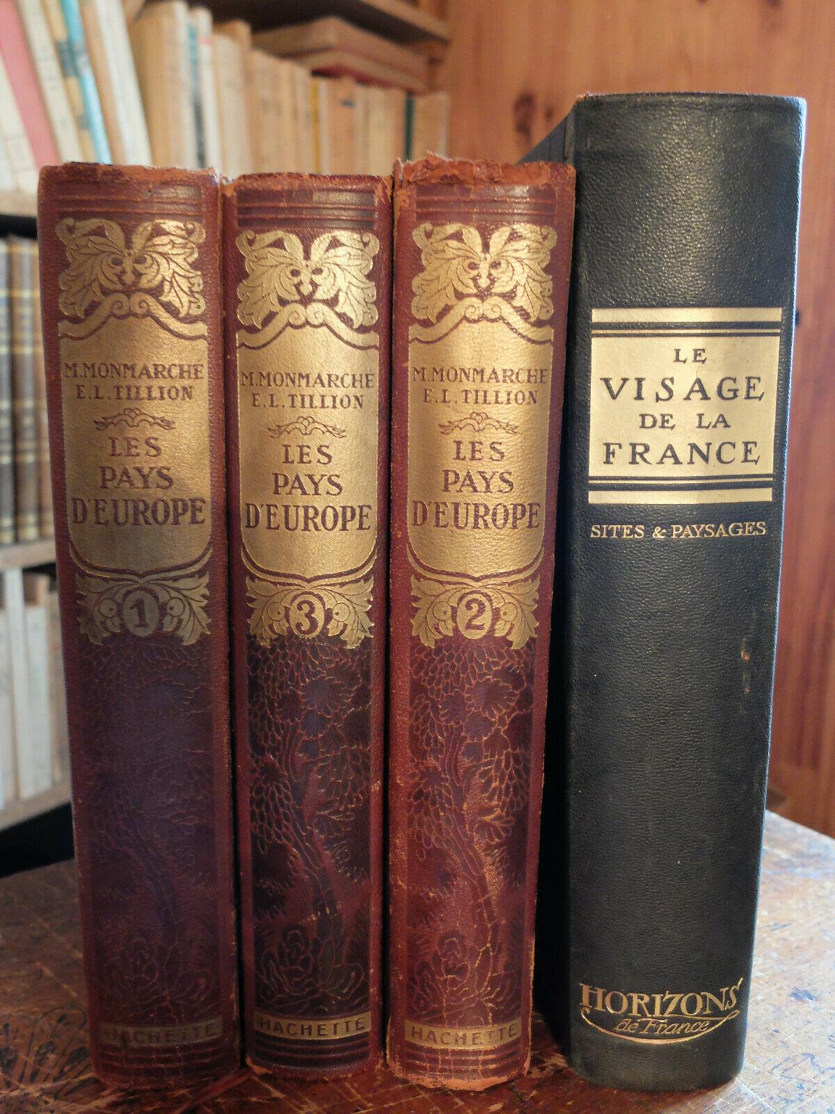 """I volumi dell'opera """"Les pays d'Europa"""" curati da Émilie Tillion quando lavorava per Hachette (anni 30)"""