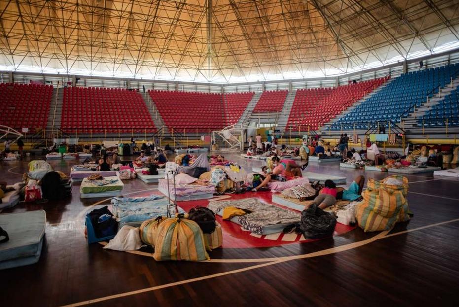 Un centro d'accoglienza nello Stato di Táchira